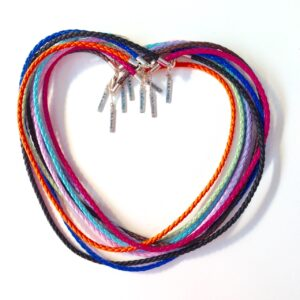 Braided B.B. Bling Necklaces Heart