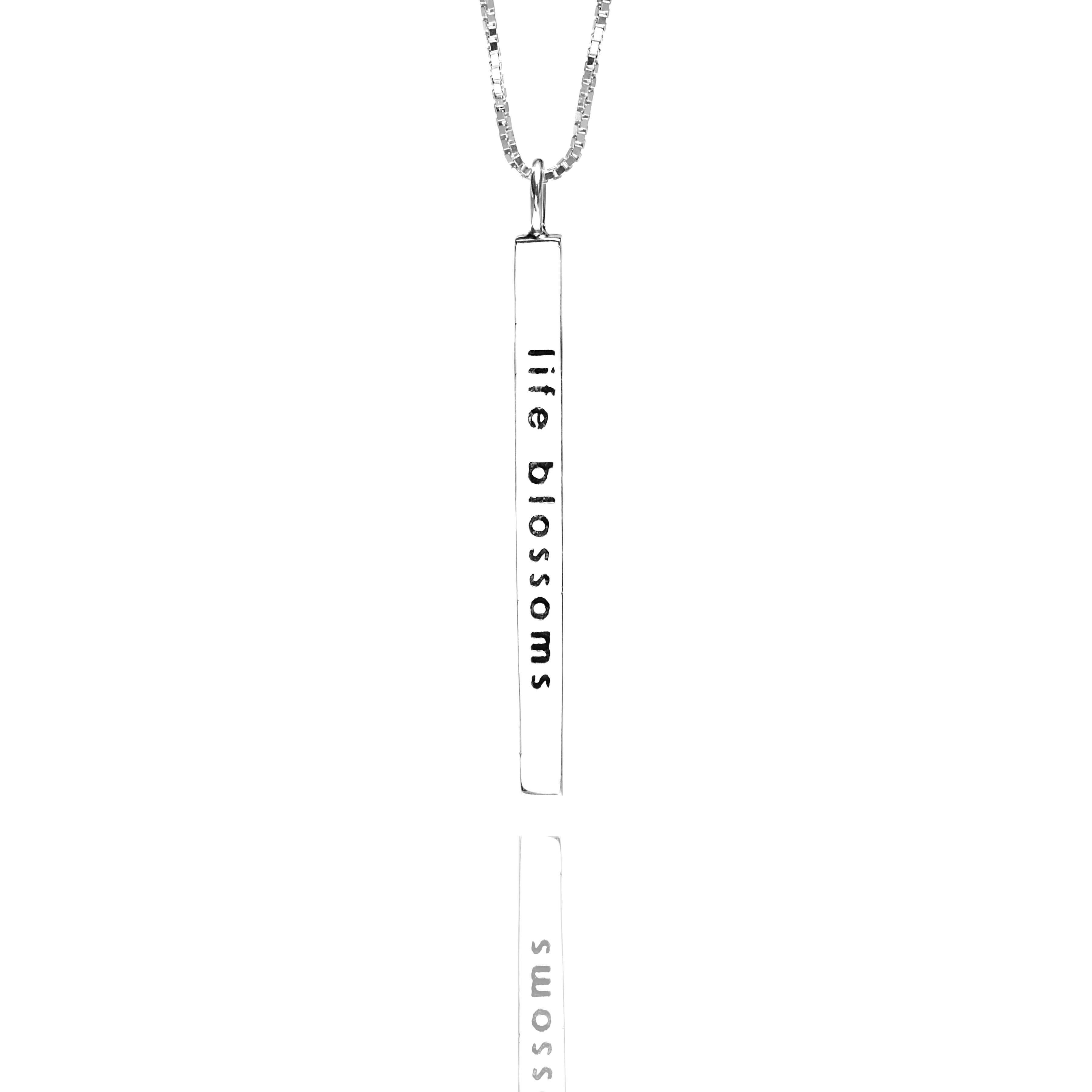 Mini Mantra Word Bar Necklace